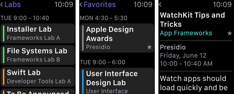 WWDC 3.0 for iOS Apple Watch screnshot 001