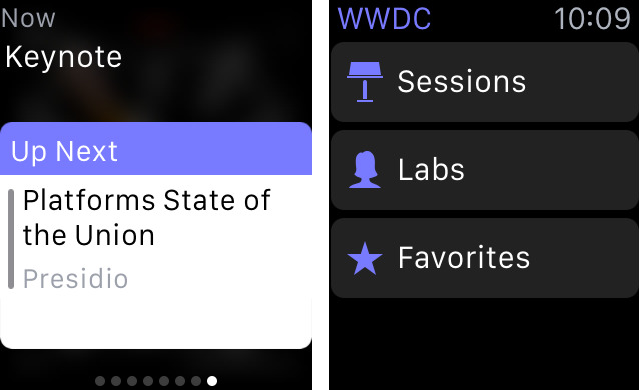 WWDC 3.0 for iOS Apple Watch screnshot 002