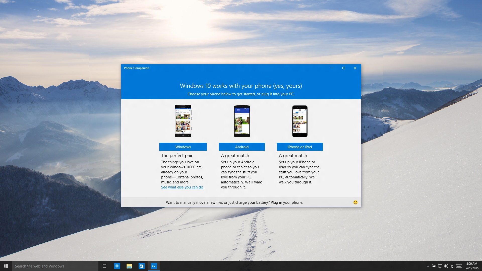 Windows 10 Phone Companion screenshot 001