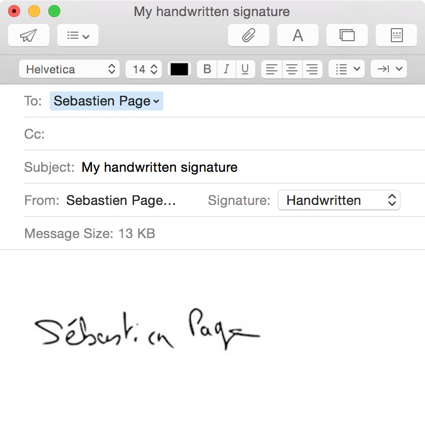 How to create a handwritten email signature on iPhone