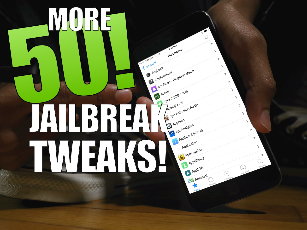 50 More Jailbreak tweaks TaiG iOS 8.3