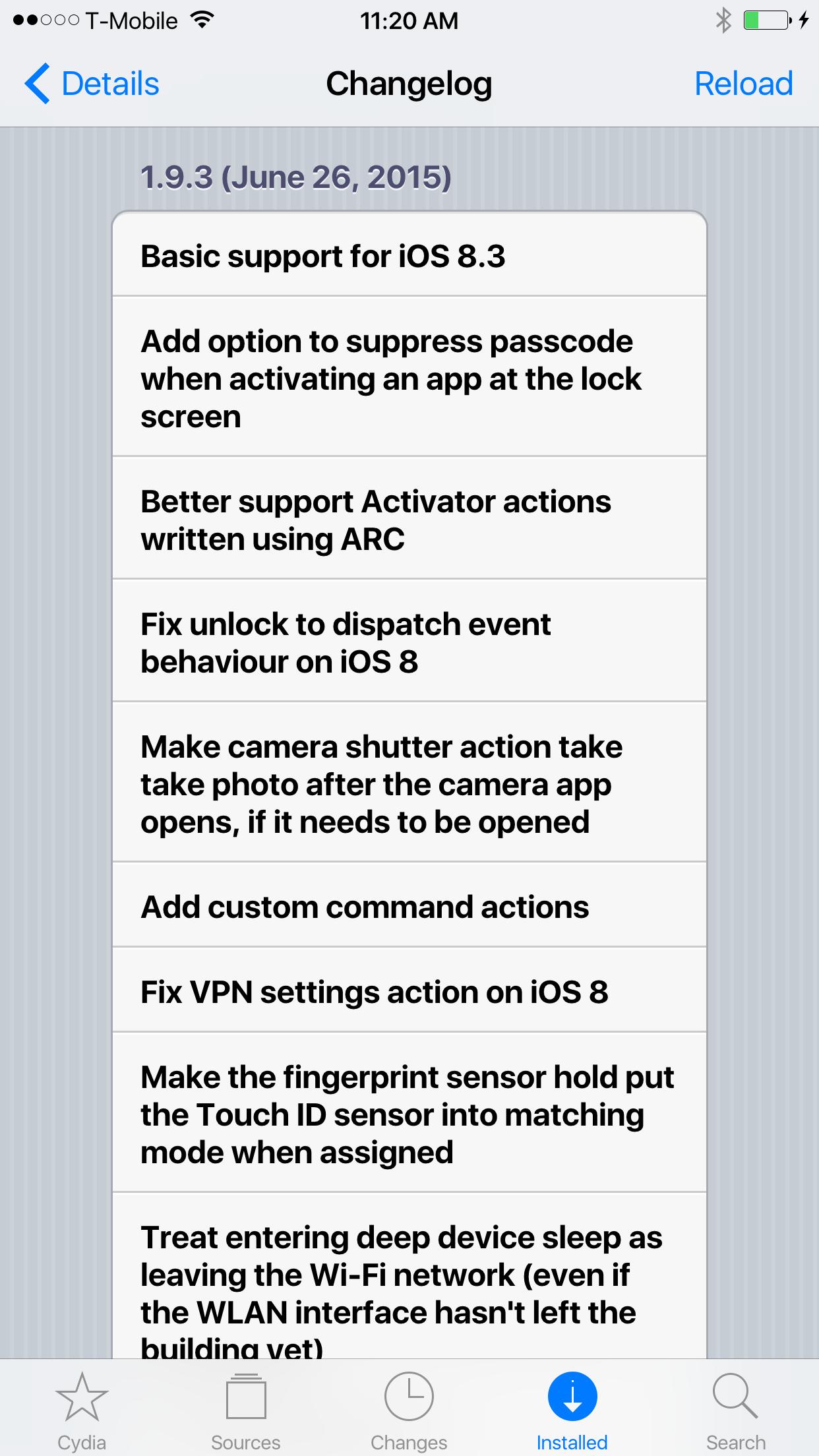 Activator 1.9.3 change log