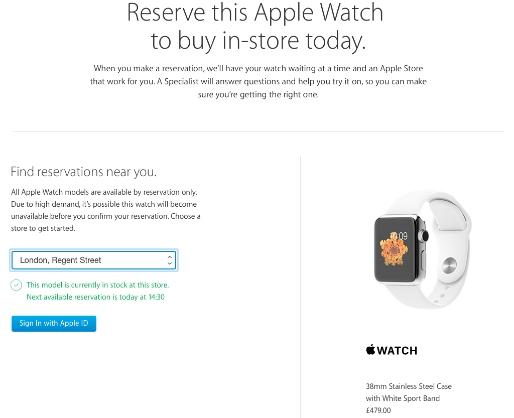 Apple Online Store UK reserve Apple Watch for in-store web screenshot 001