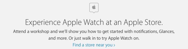 Apple Watch walk-in try on stores
