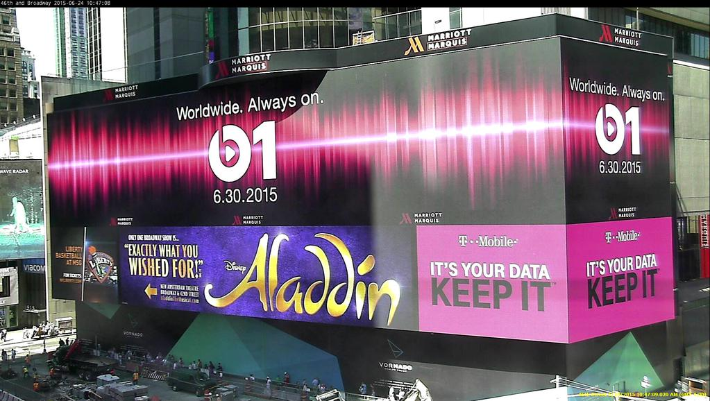 Apple billboard Beats One Times Square