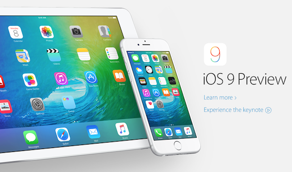 Apple homepage iOS 9 wallpaper splash