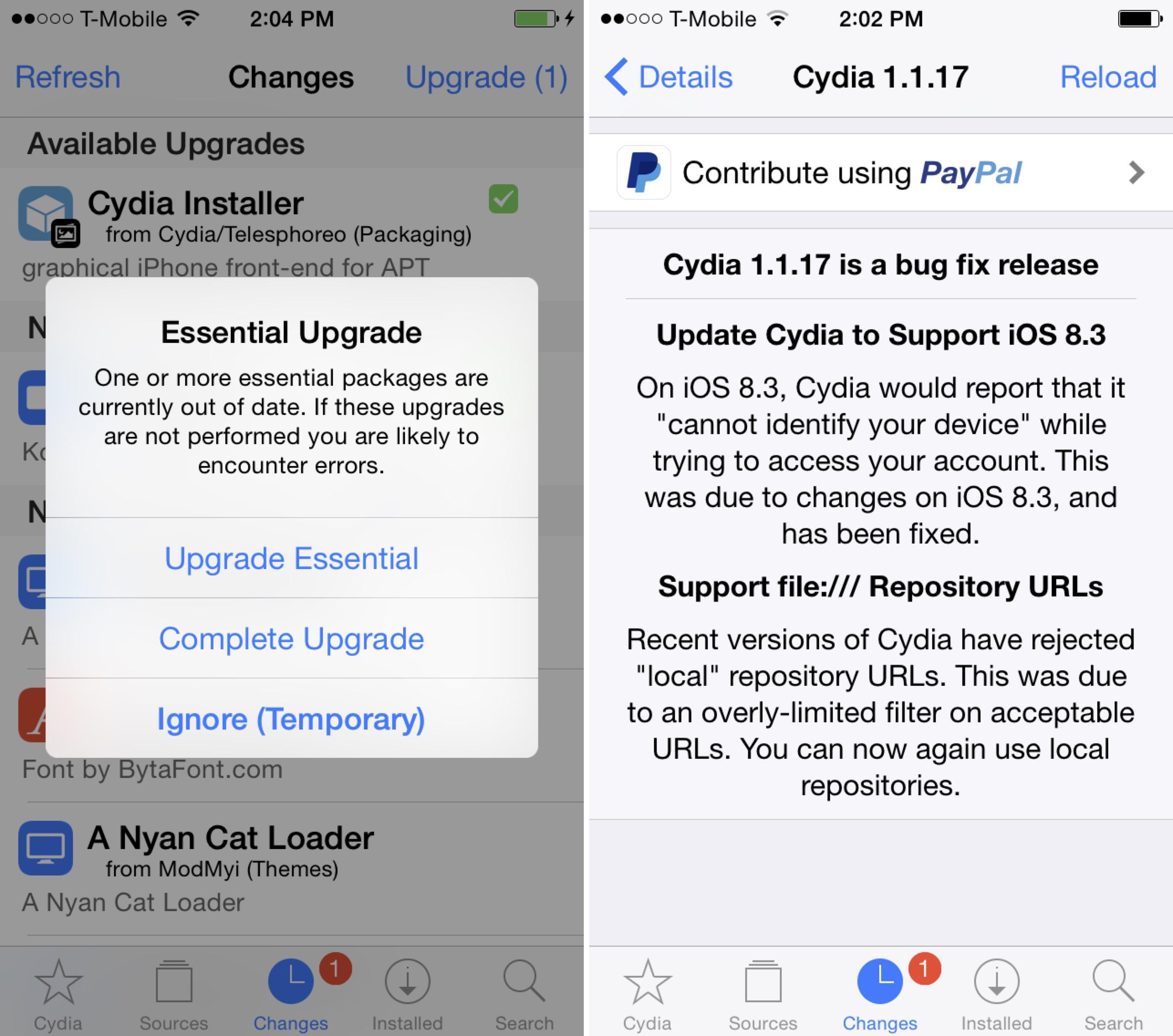 Cydia Installer 1.1.17