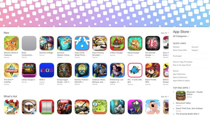 Desktop iTunes App Store algorithmically created sections Mac screenshot 001
