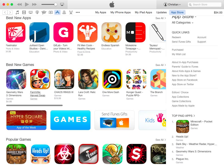 Desktop iTunes App Store human curated sections Mac screenshot 002