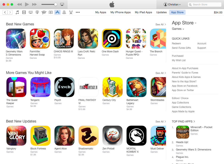 Desktop iTunes App Store human curated sections Mac screenshot 003