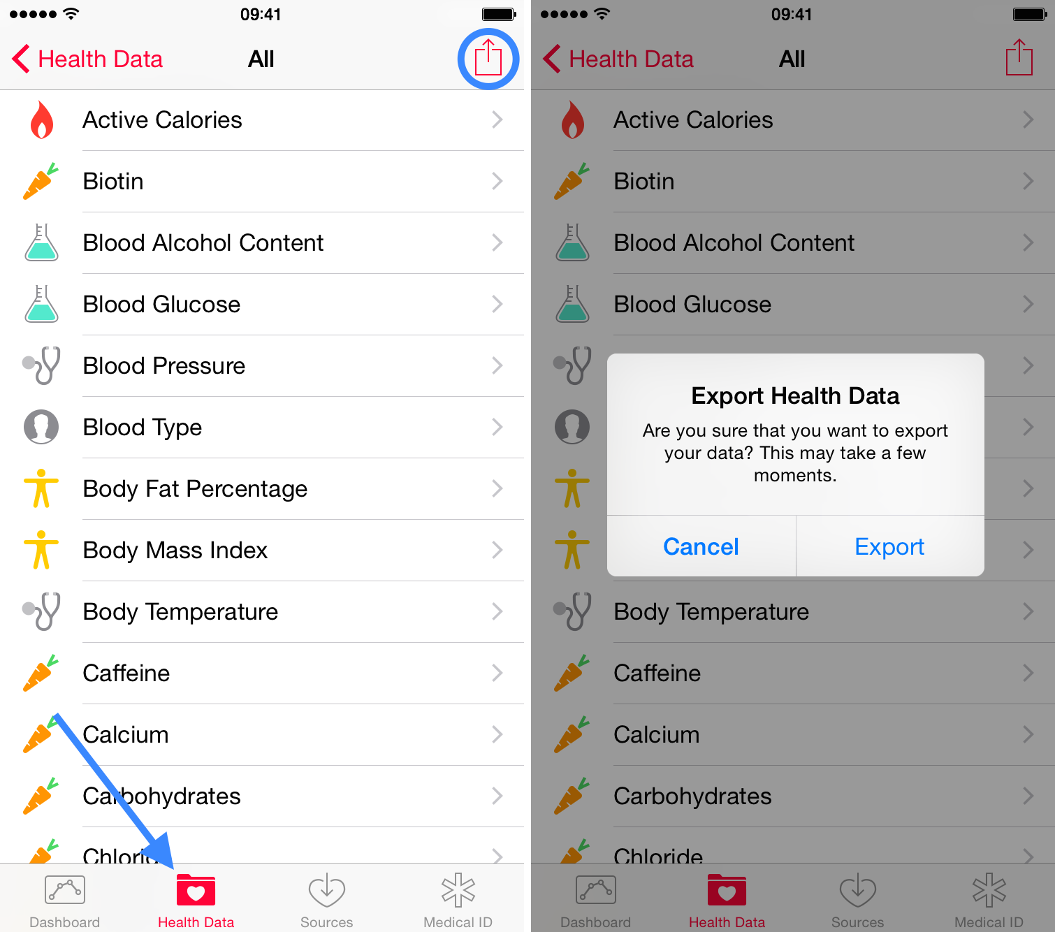 How to export and import your Health data
