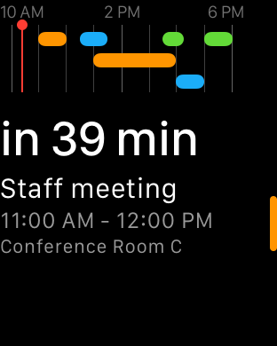 Fantastical 2 for Apple Watch Glance screenshot