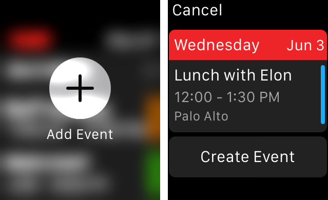 Fantastical 2 for Apple Watch New Event screenshot