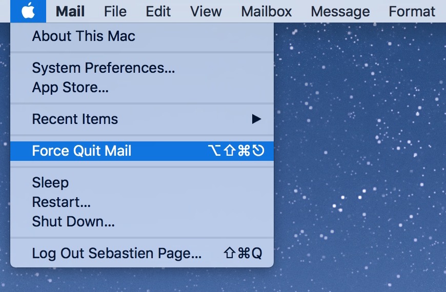 Force Quit from Finder