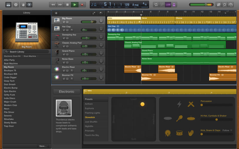 GarageBand 10.1 for OS X Mac screenshot 001