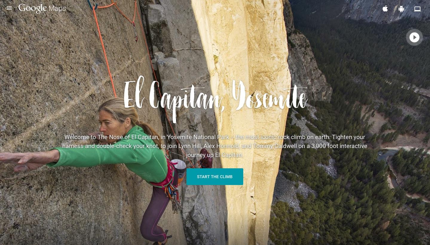 Google Maps El Capitan climb image 001