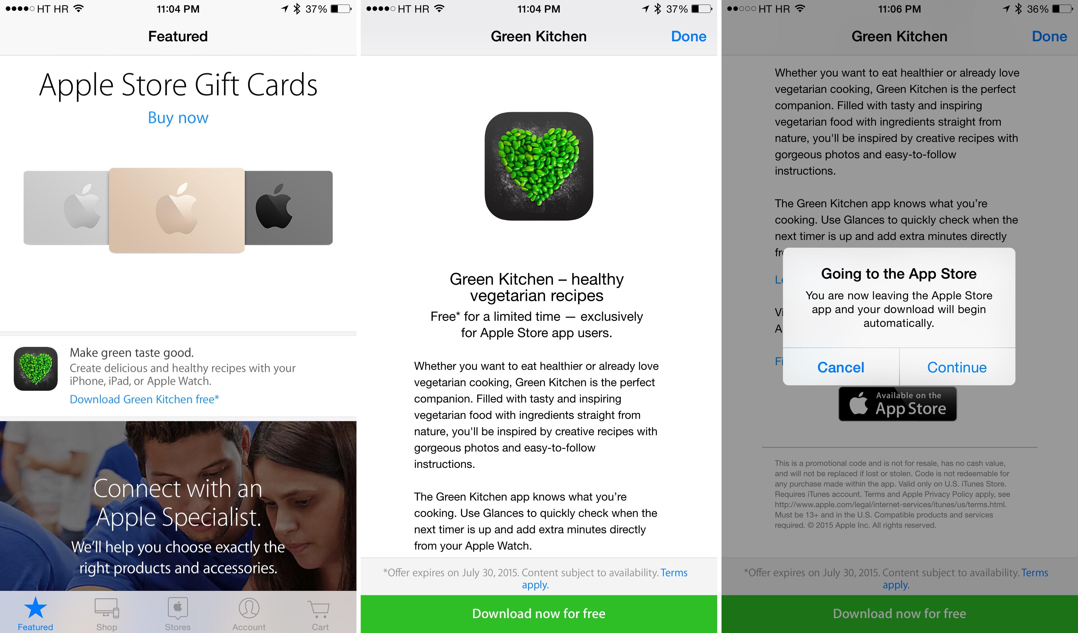 Captura de pantalla del iPhone 001 de Green Kitchen para iOS Apple Store