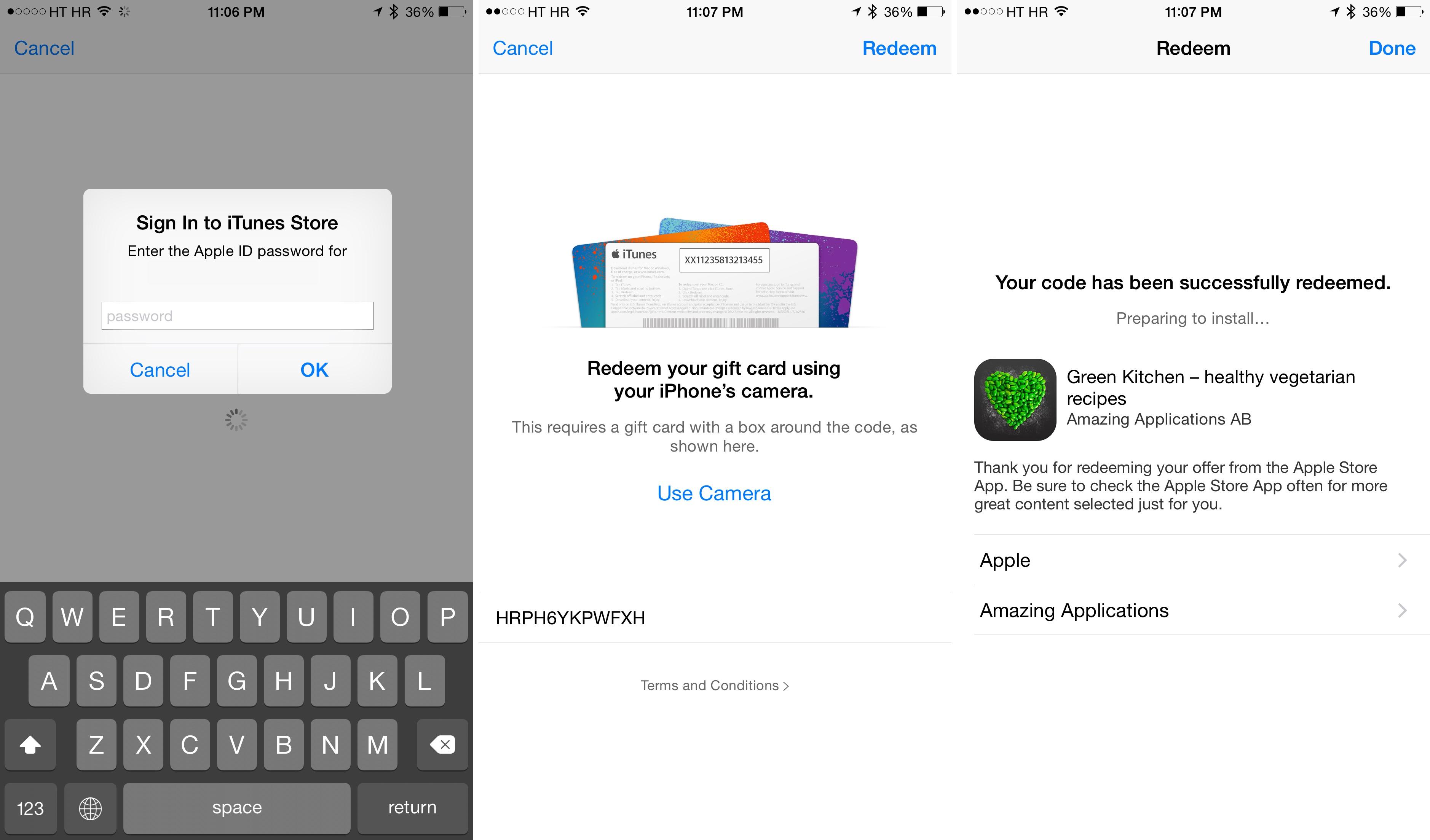 Captura de pantalla del iPhone 002 de Green Kitchen para iOS Apple Store