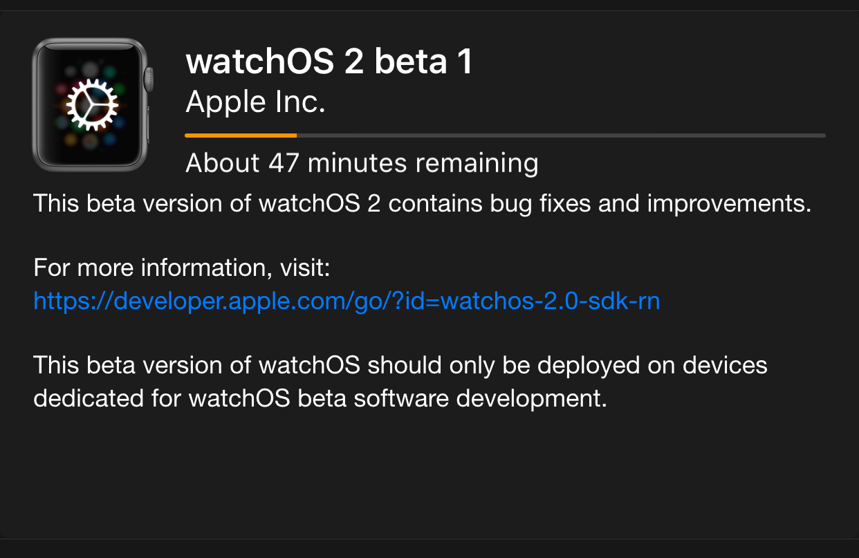 How to install watchOS 2