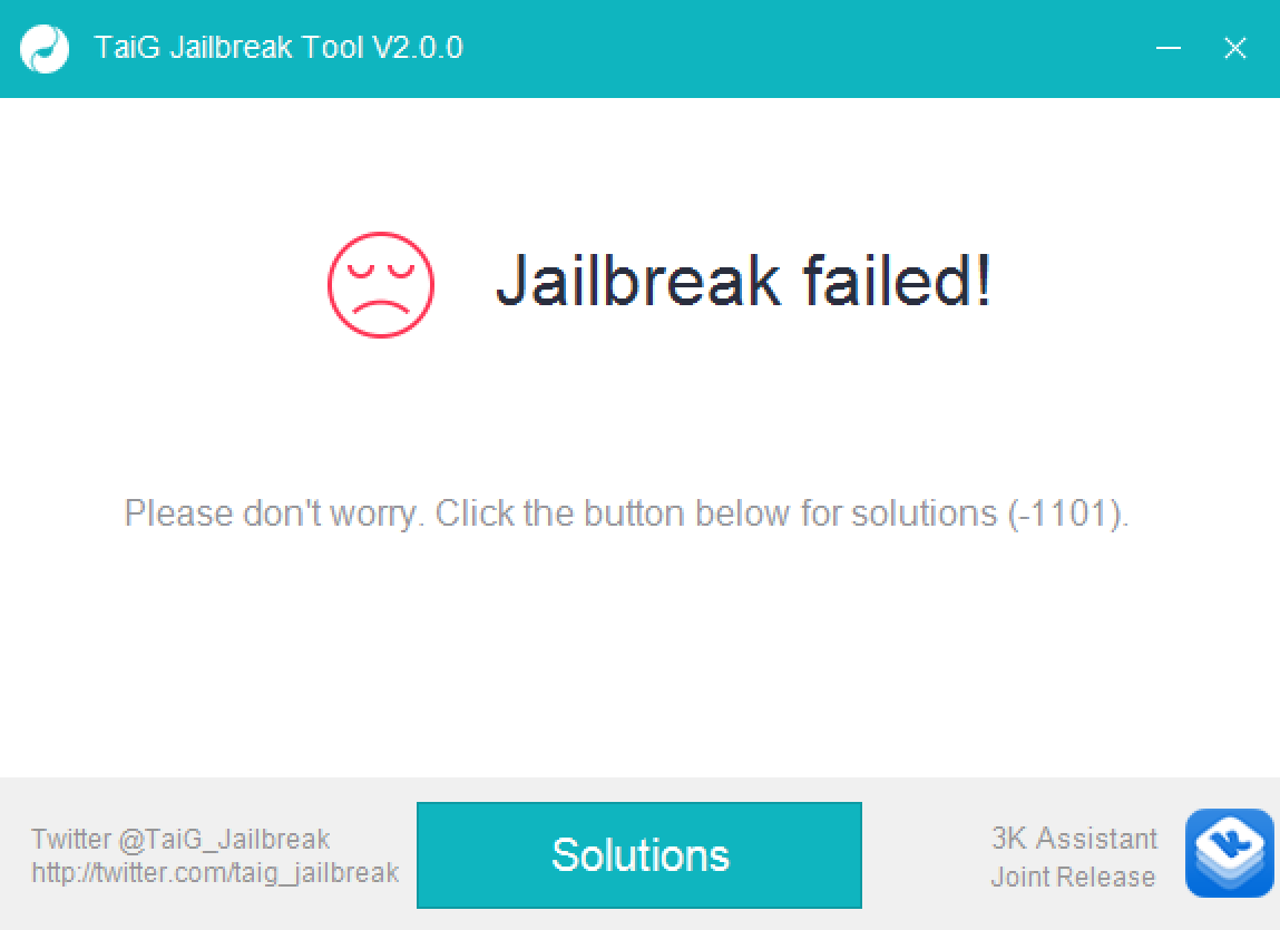 Jailbreak Failed taig 2.0.0 iOS 8.3