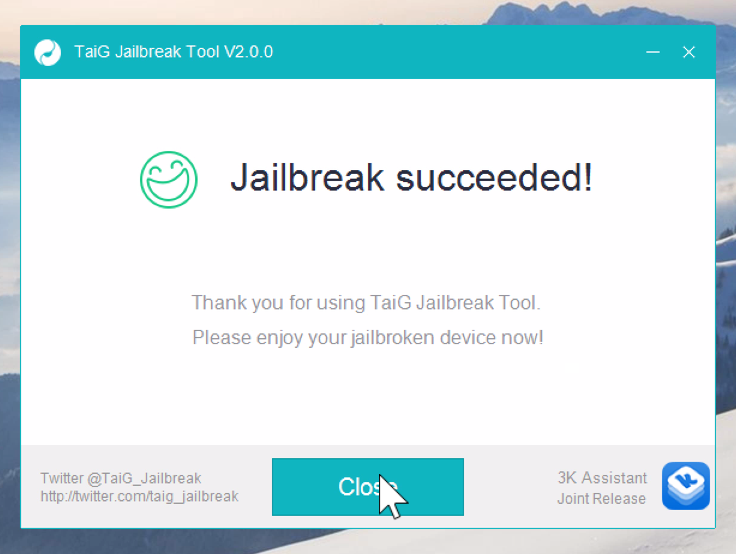 Jailbreak TaiG 2.0.0 succeeded