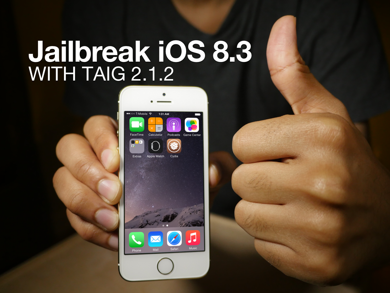 Jailbreak iOS 8.3 TaiG 2.1.2 Cydia Substrate