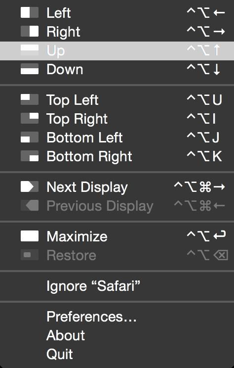Magnet menu bar app
