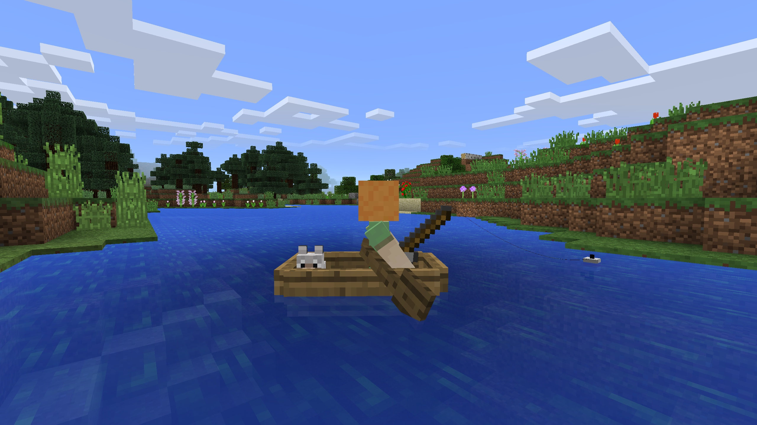 Minecraft Pocket Edition for iOS boat iPhone screenshot 001