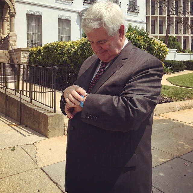 Newt Gingrich reviews Apple Watch 002