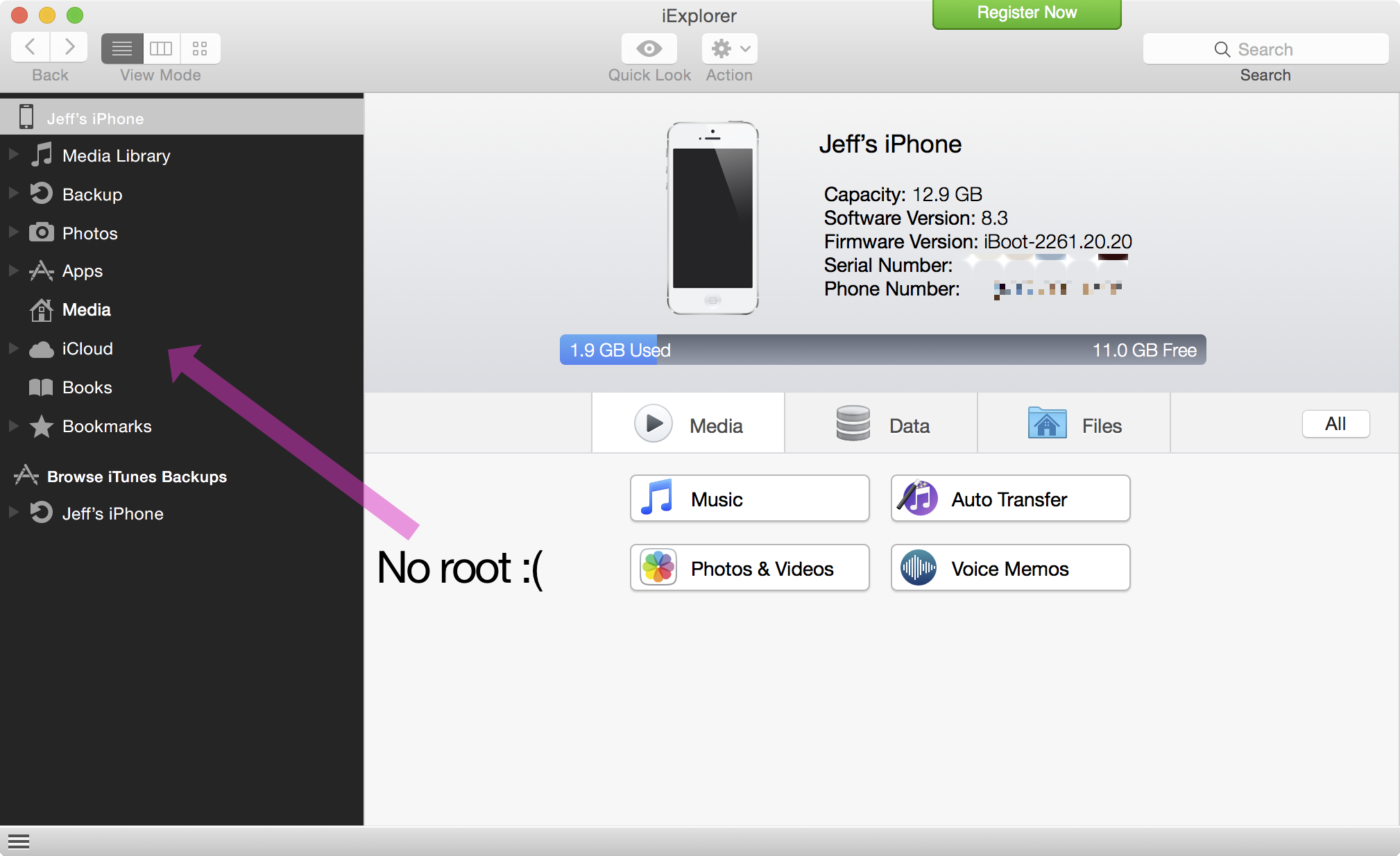 No root afc2 iOS 8.3