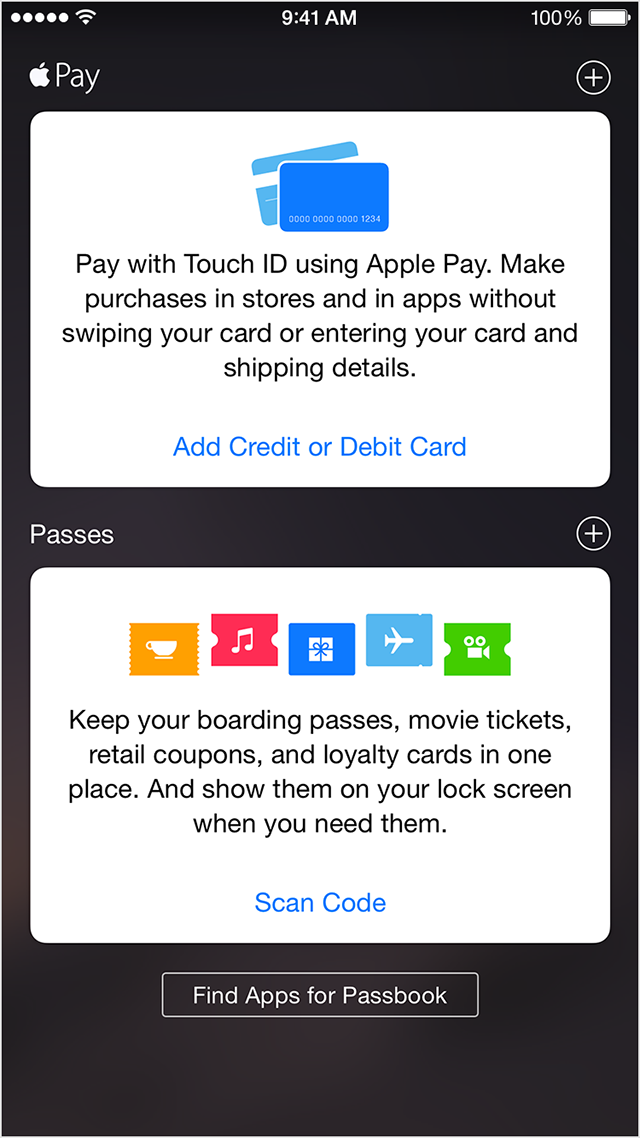 Captura de pantalla del iPhone Passbook 001