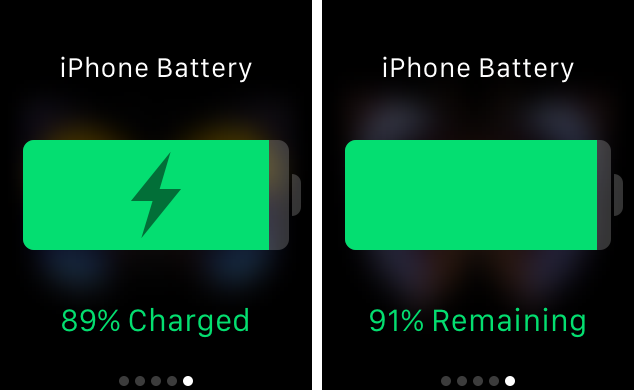 Power Glance at battery life