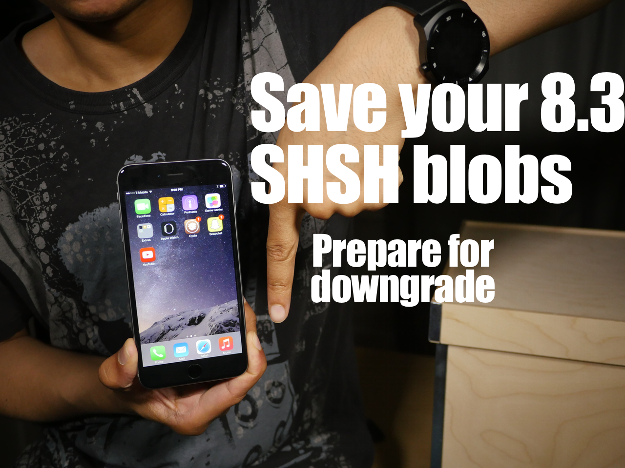 Prepare for iOS 8.3 Downgrade SHSH blobs TinyUmbrella