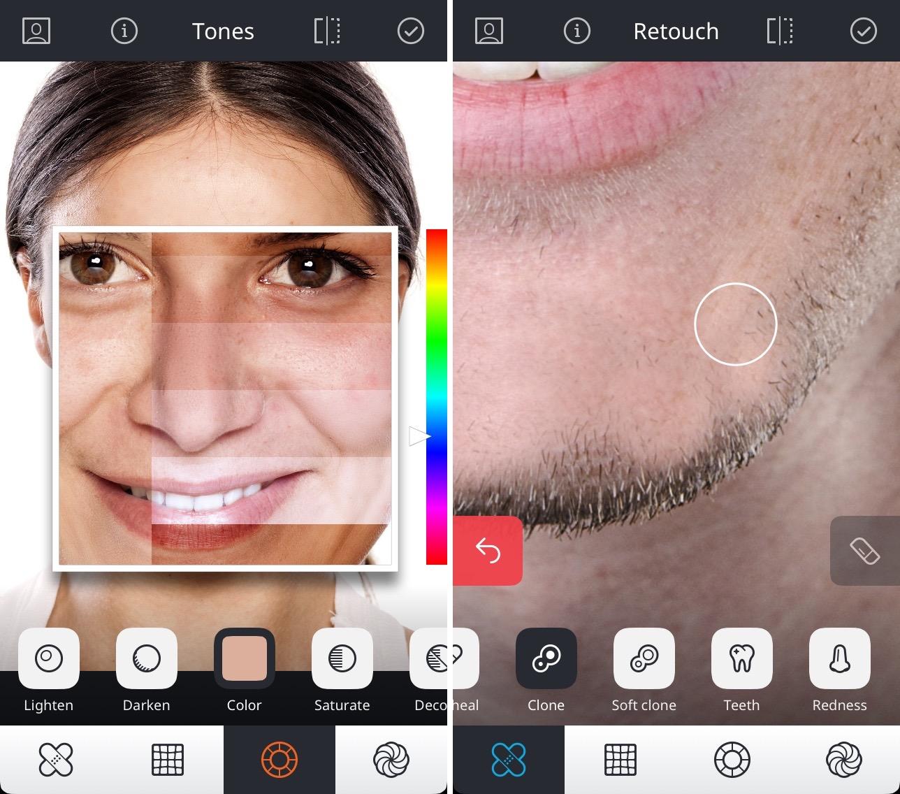 фоторедактор в котором можно рисовать айфон лица