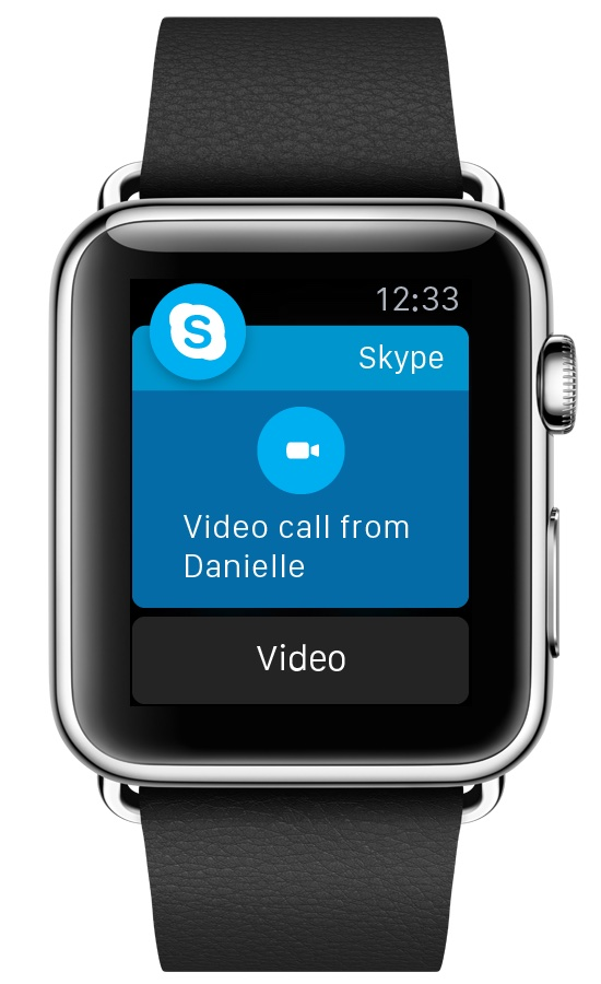 Skype for Apple Watch Video calls
