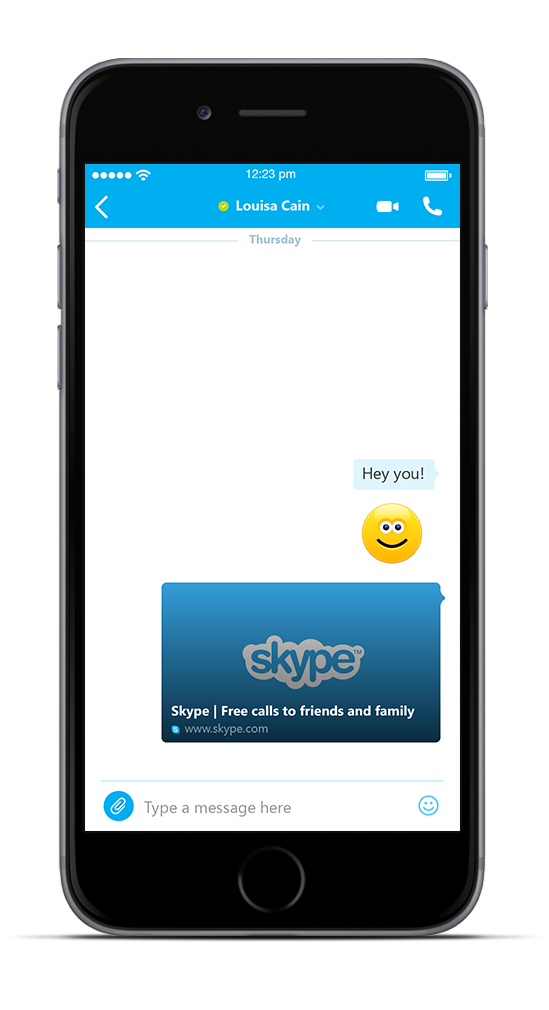Skype for iOS web link previews iPhone screenshot 001