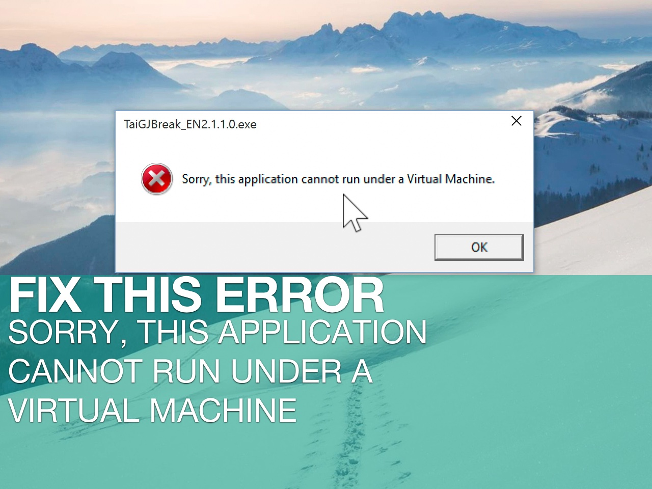 How to fix the dreaded virtual machine error when attempting to run