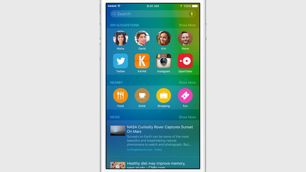 Spotlight iOS 9