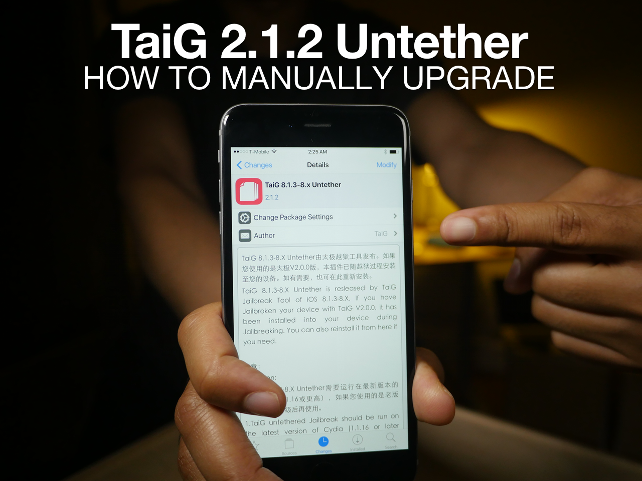 TaiG 2.1.2 Untether Upgrade Cydia Tutorial