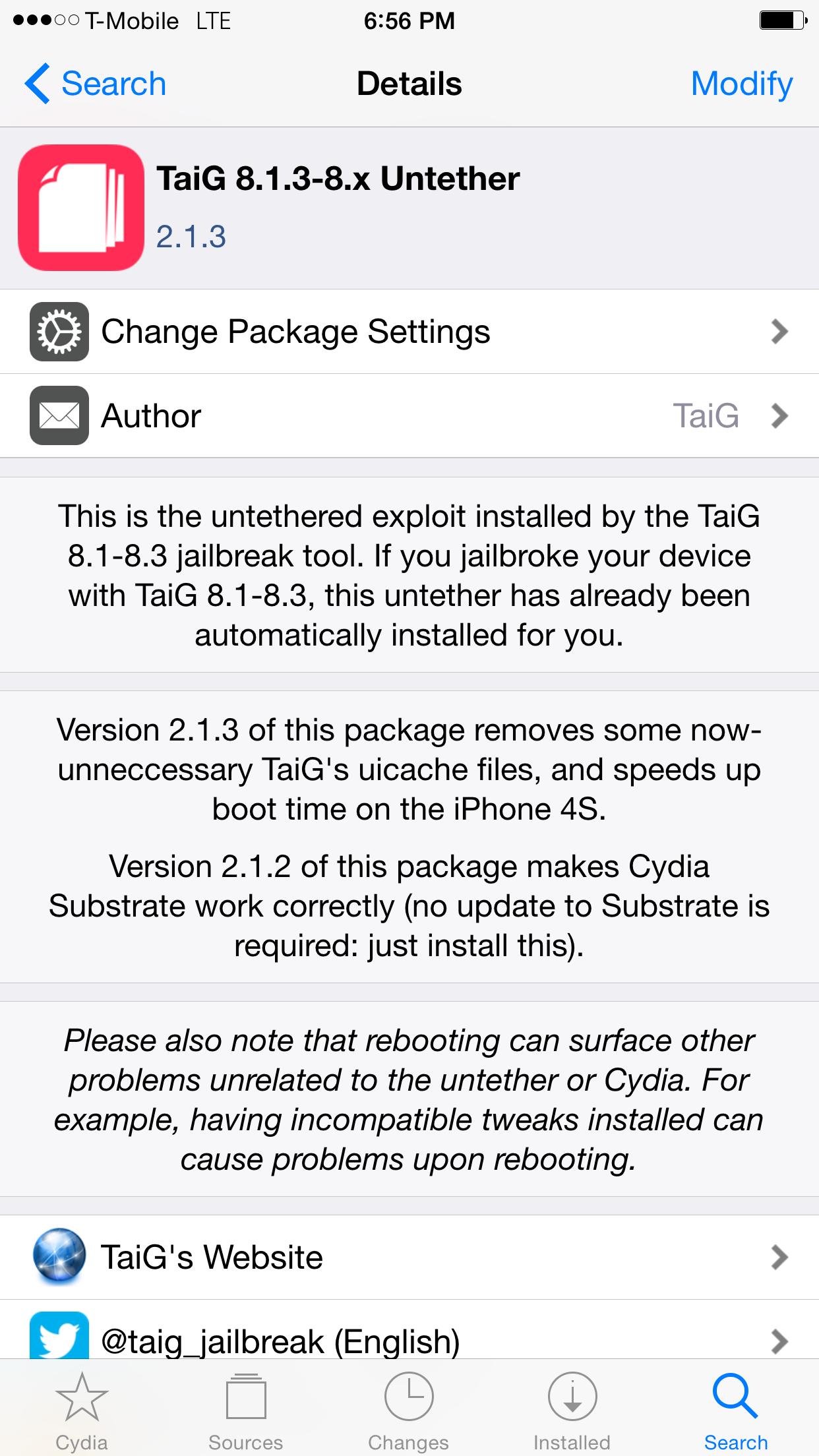 TaiG 2.1.3 Untether
