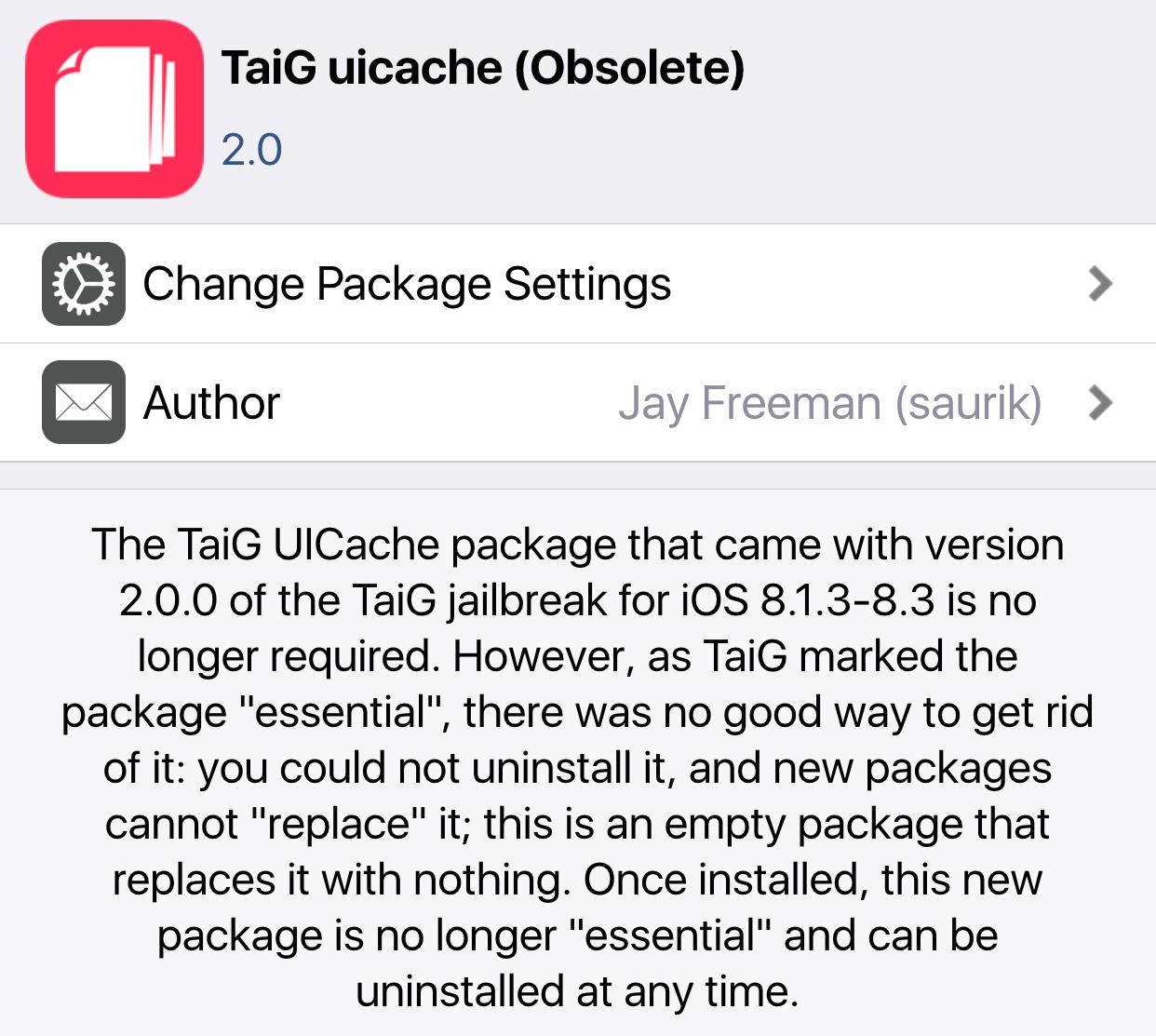 TaiG UI Cache Obsolete Delete