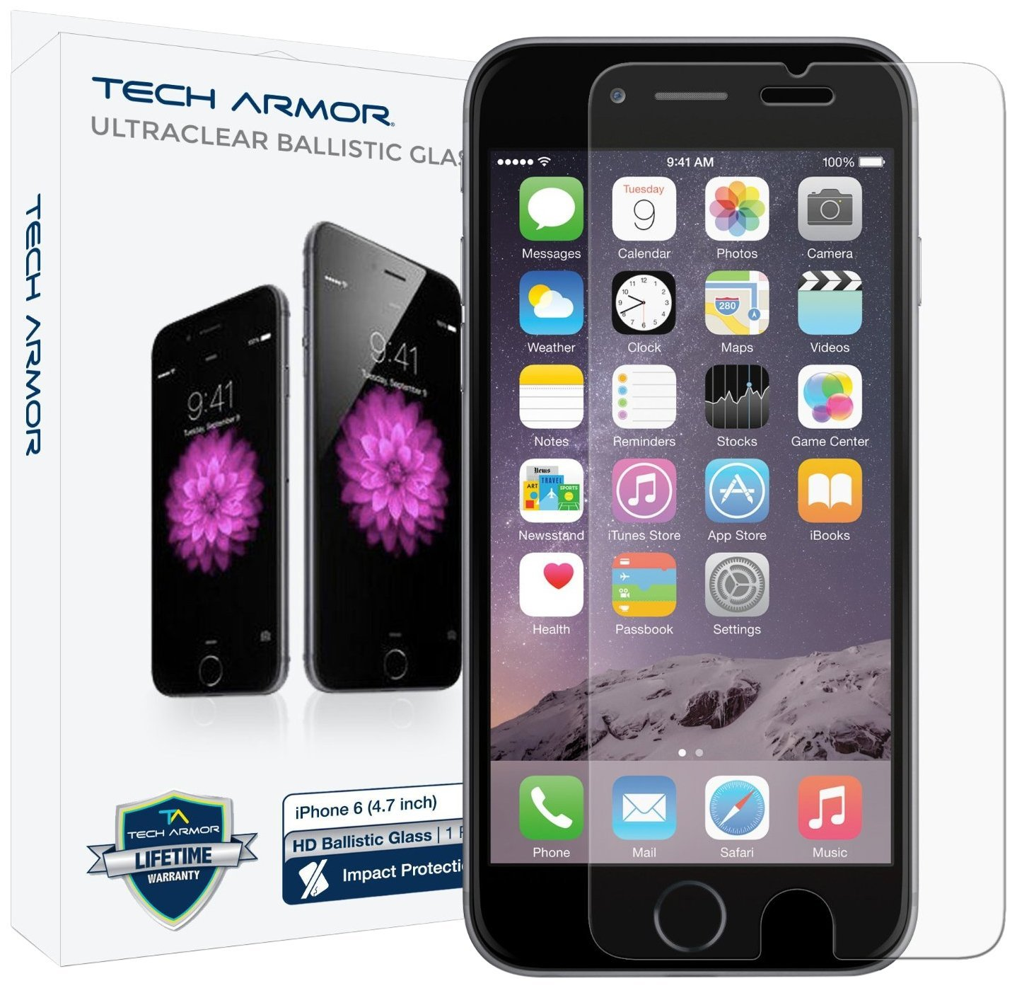 Tech Armor Ballistic Glass Screen Protector