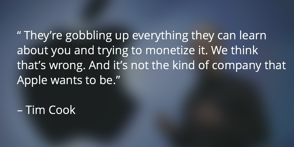 Tim Cook privacy quote
