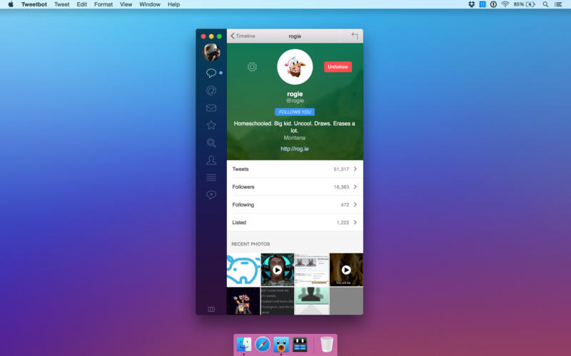 Tweetbot 2 para OS X Mac captura de pantalla 002