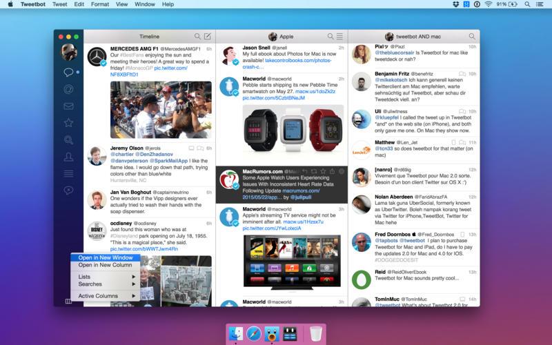 Tweetbot 2 para OS X Mac captura de pantalla 004