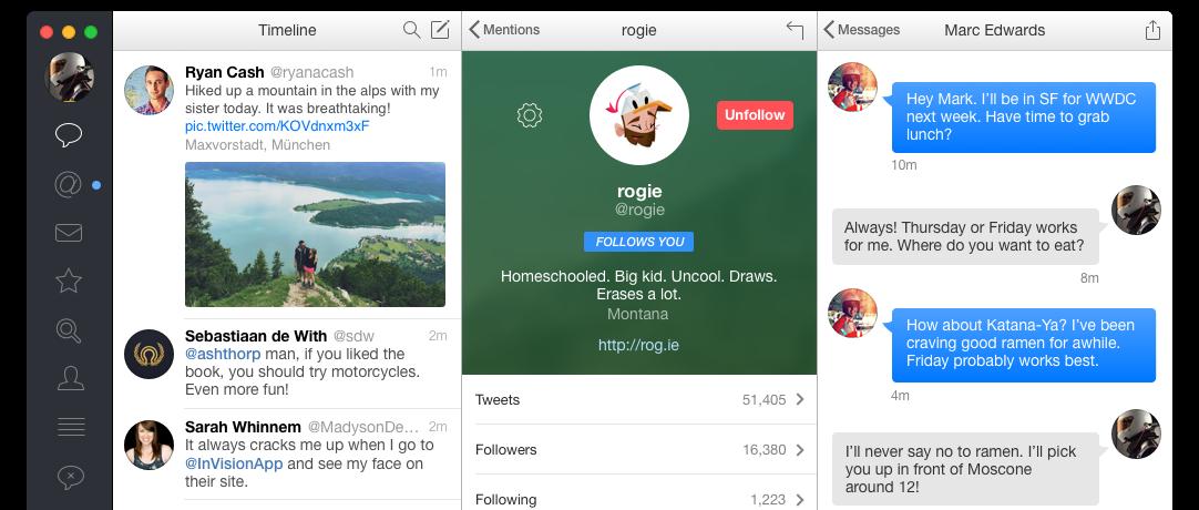 Tweetbot 2 para OS X Mac captura de pantalla 005