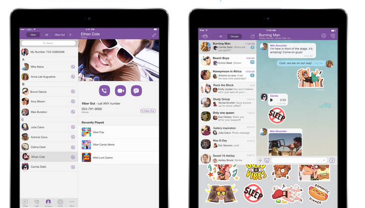 Captura de pantalla 002 de Viber 5.4.1 para iOS iPad