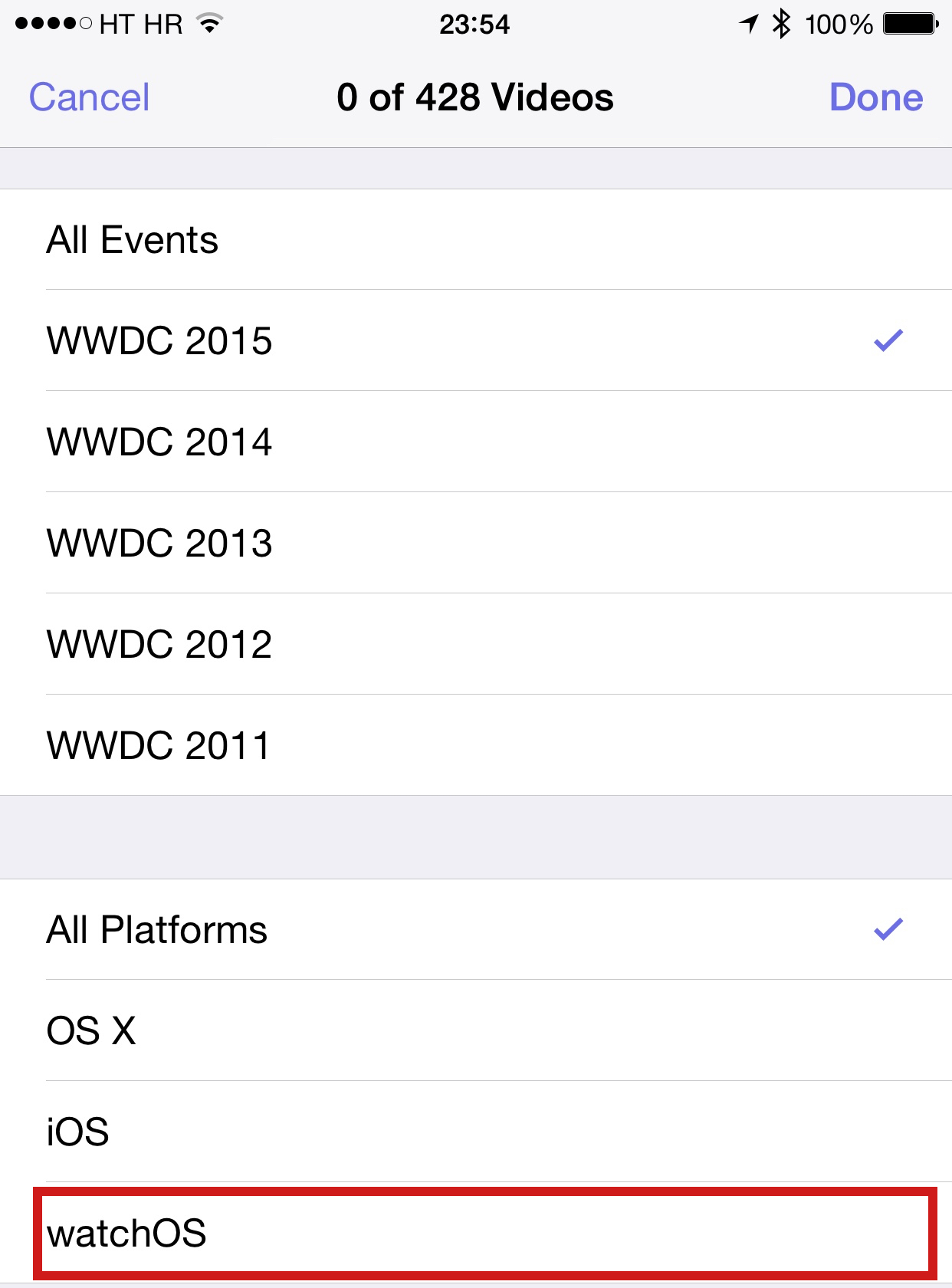 WWDC app watchOS mention
