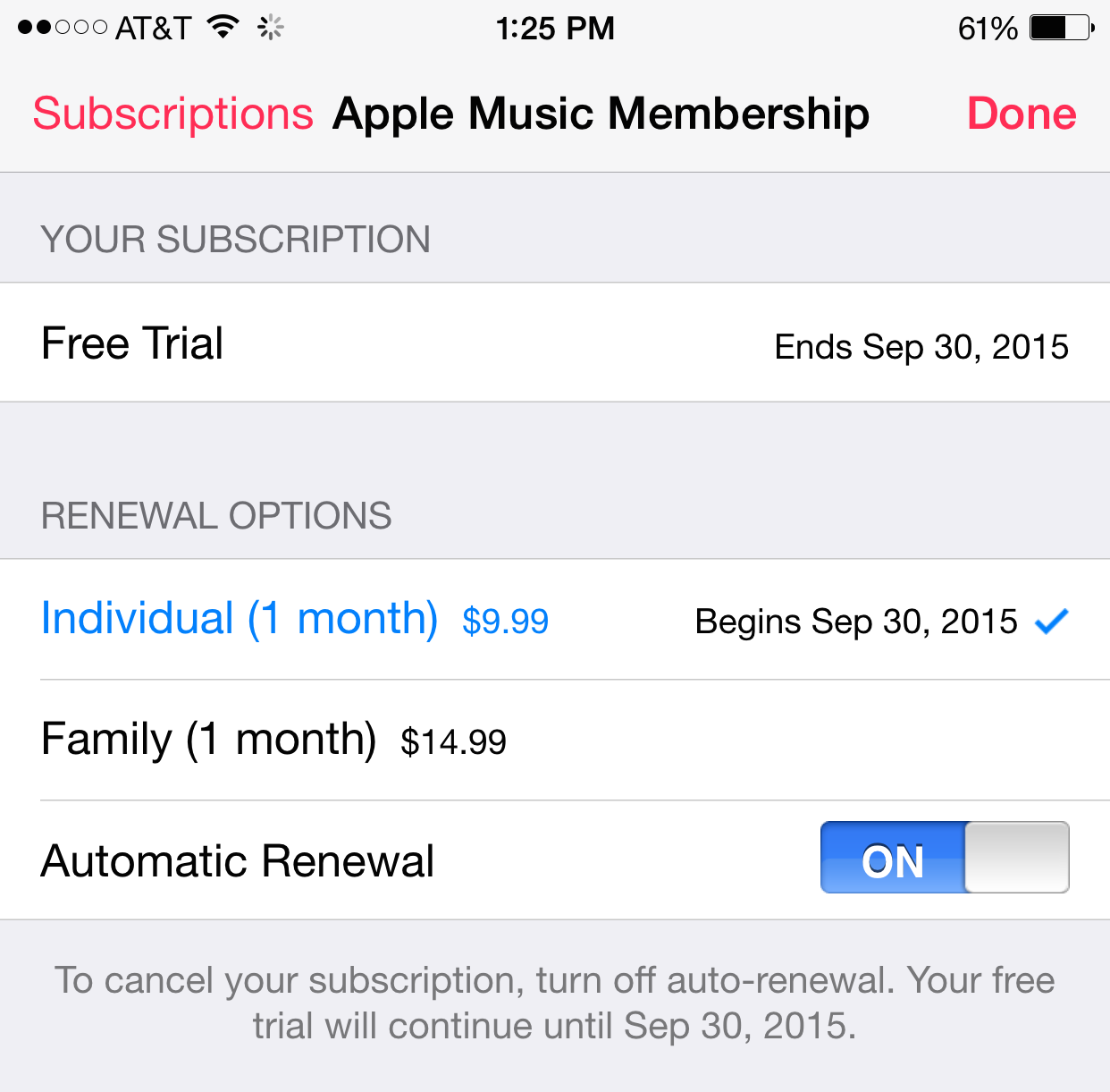 How to disable auto-renewal in Apple Music to avoid charges