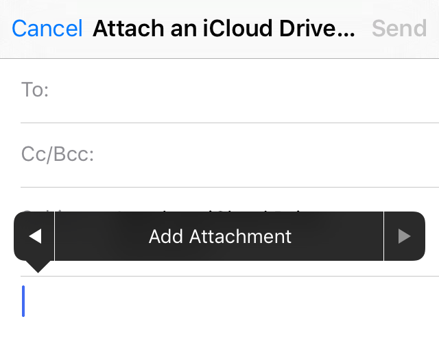 How to attach iCloud Drive documents to emails